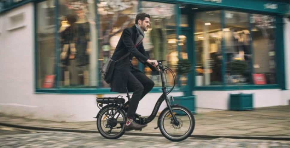 man on ebike