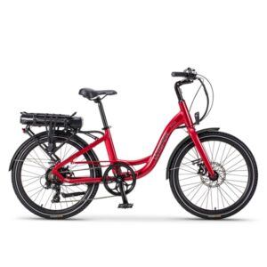 Red Wisper 705 24″ Step-Through Electric Bike