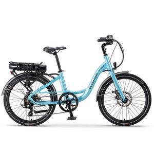 Electric Blue Wisper 705 24″ Step-Through Electric Bike