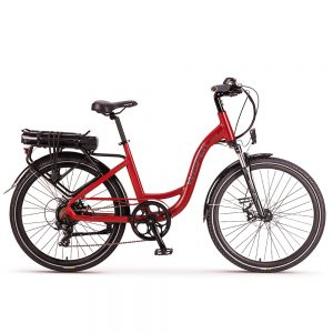 "Red Wisper 705 26"" Step-Through Ebike"
