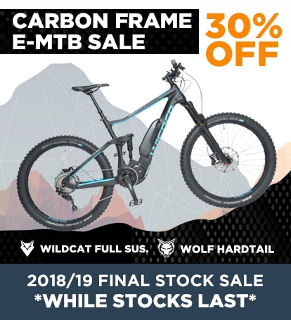 E-MTB SALE 30% OFF! - Hardtail & Full Suspension eMTB