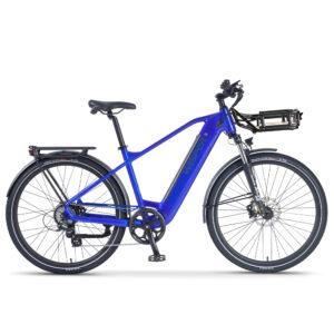 Blue Ebike Wayfarer H9 (hub-drive crossbar) with Rack