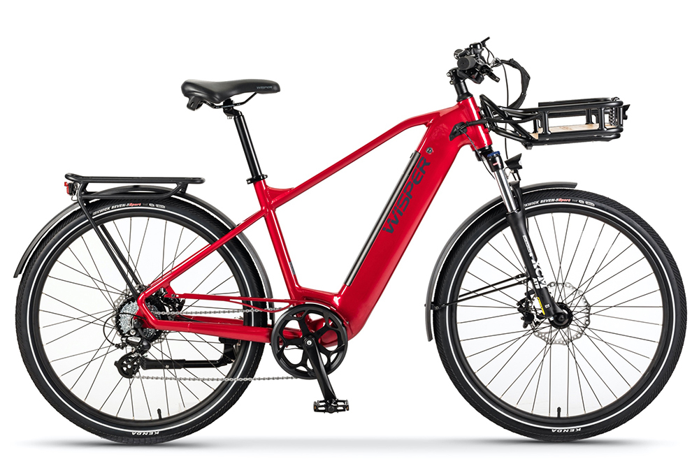 Red Wayfarer H9 Hub-drive crossbar Ebike with Rack